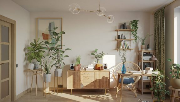 Cozy Boho Interiors With Botanical Boosts