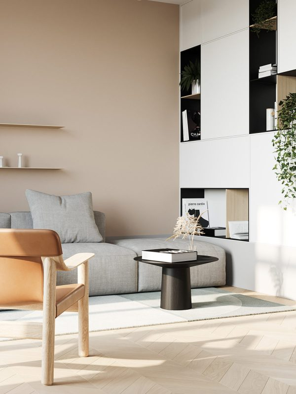 Cozy Minimalist Interior With A Muted Earthy Colour Palette