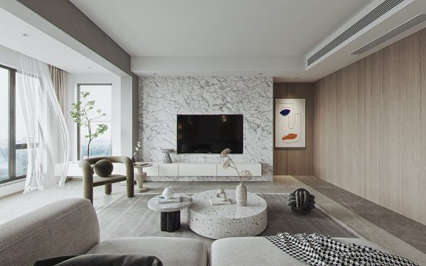 Serenely Stylish White And Wood Interiors