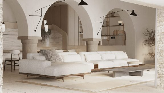 Large And Elegant Rustic Living Spaces