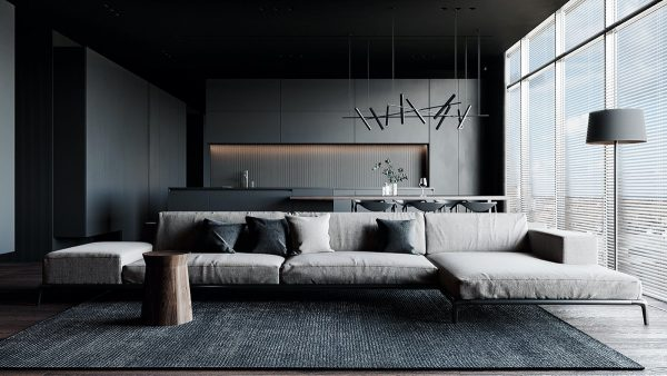 Satisfy Your Dark Side With Black And Grey Interiors