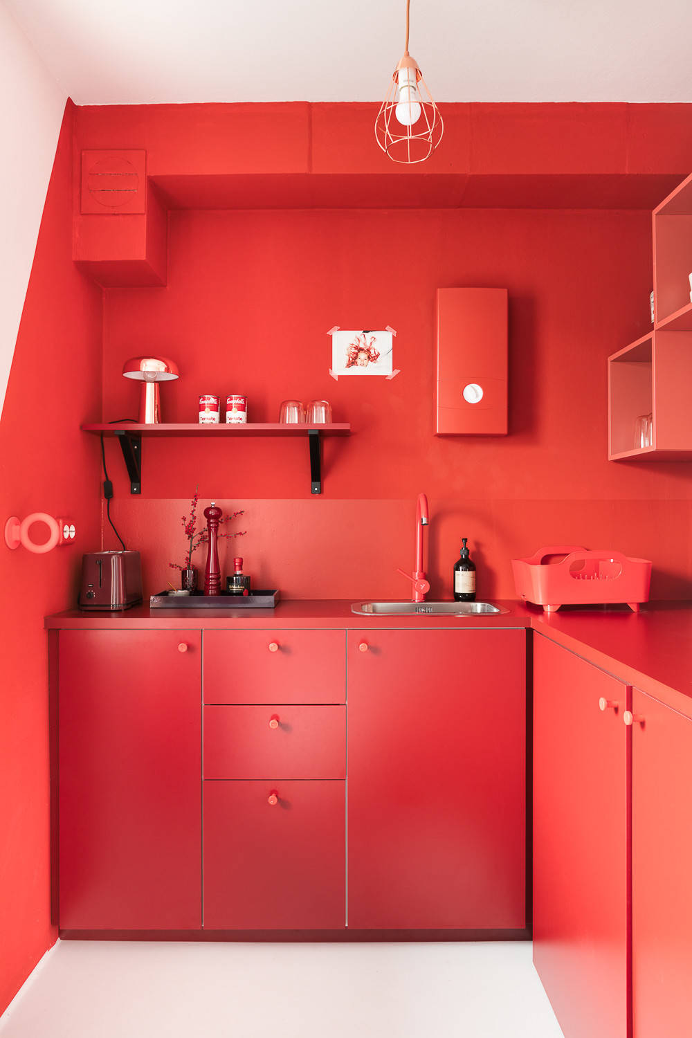 red kitchen design pictures