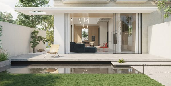 Contemporary Chinese Home With Courtyard & Glass Bottom Pool