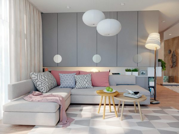 Cosy Family Home With Soft Grey & Sugar Pink Accent Decor