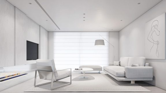 Crafting Cool Clarity With All-White Interiors