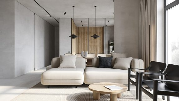 Minimising Interior Fuss With Microcement Industrial Decor