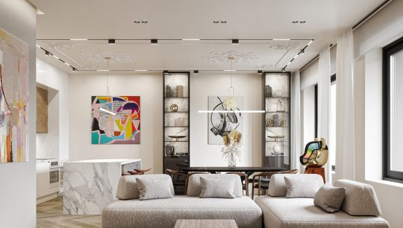 Decorating Fascinating Spaces With Colourful Art Accents
