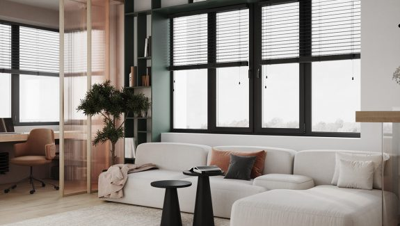 1 Bed Apartments With Earthy Brown & Green Accent Decor