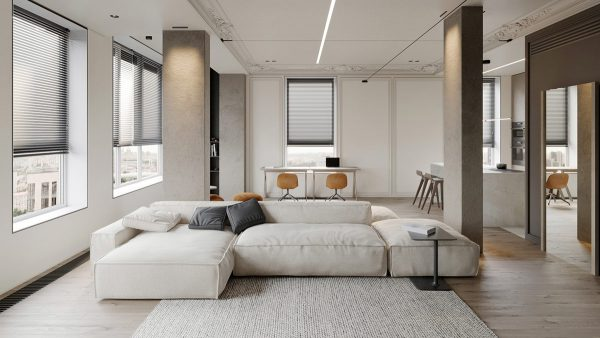Subtle Grey Interiors With Classic Details