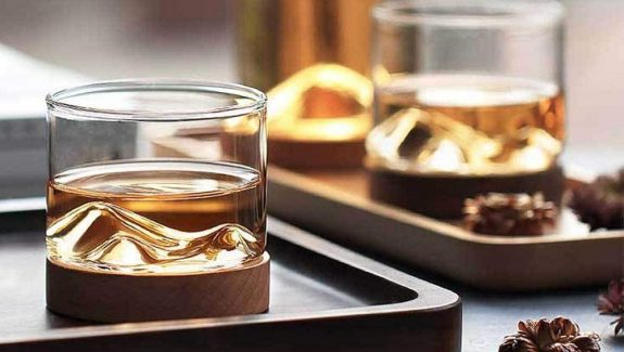 Product Of The Week: Mountain Shaped Glass & Coaster Set