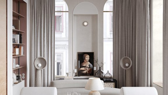 Two Art Focussed Neoclassical Home Interiors