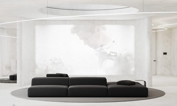 Smooth Microcement Interior Decor Concept With Heavy Black Accents