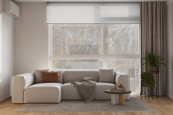 Peacefully Pale Tonal Decor With Warming Wood Accents