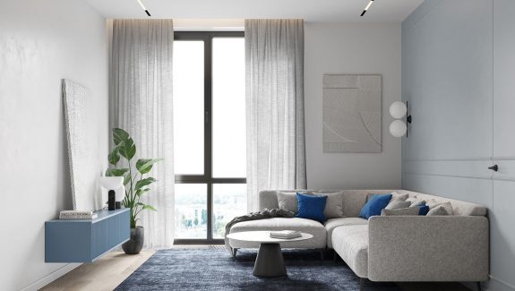 Mood Boosting Blue Accent Decor - Two House Tours
