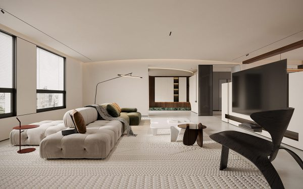 Mellow Modern White Interior With Earthy Accents