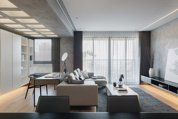 Grey And White Apartment Interiors With A Sunny Serenity