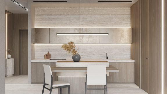 Modern Luxe Interiors Enriched With Gold And Stone