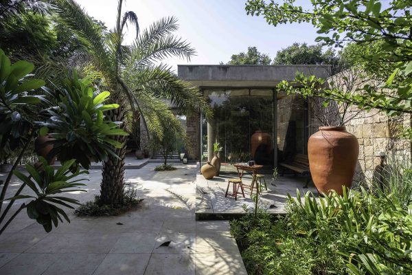 Single-Story Modern Rustic Home In India