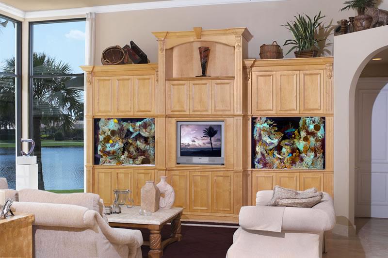 Aquariums different types of aquariums - Wall design for living room philippines ...