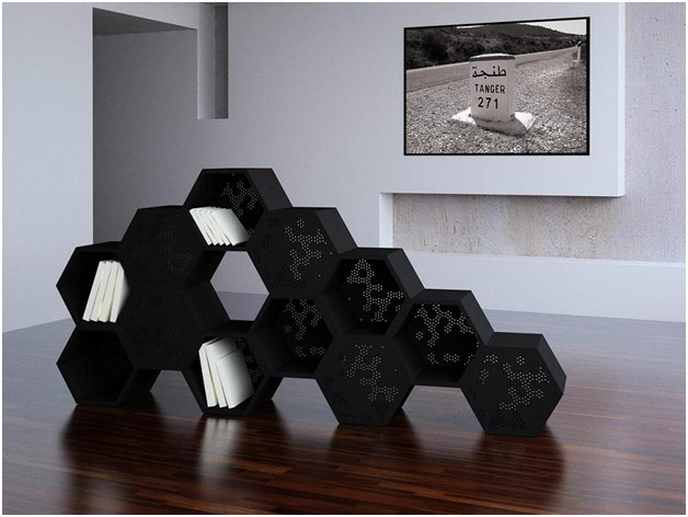 Shaped in the form of a bee hive check out this shelf by mostapha el ouhlani a designer from marocco
