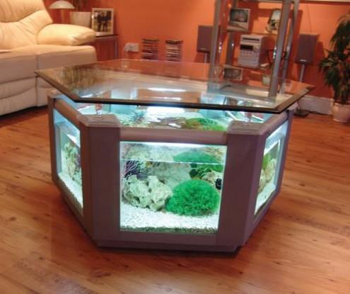 Couchtisch Aquarium