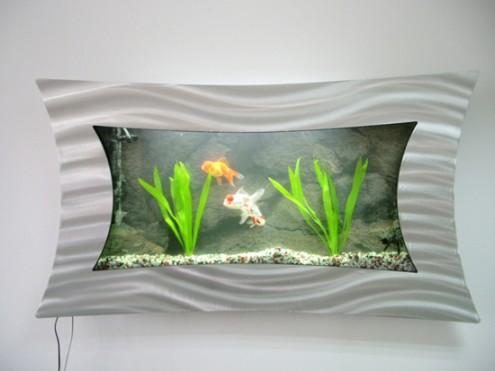 ausgefallene Wand-aquarium