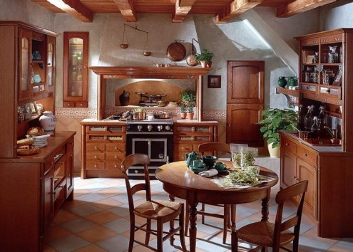 Französisch Land Küche