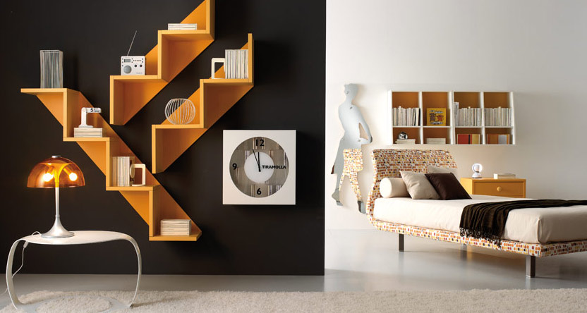 Teen room ideas - Cool shelving ideas for bedrooms ...