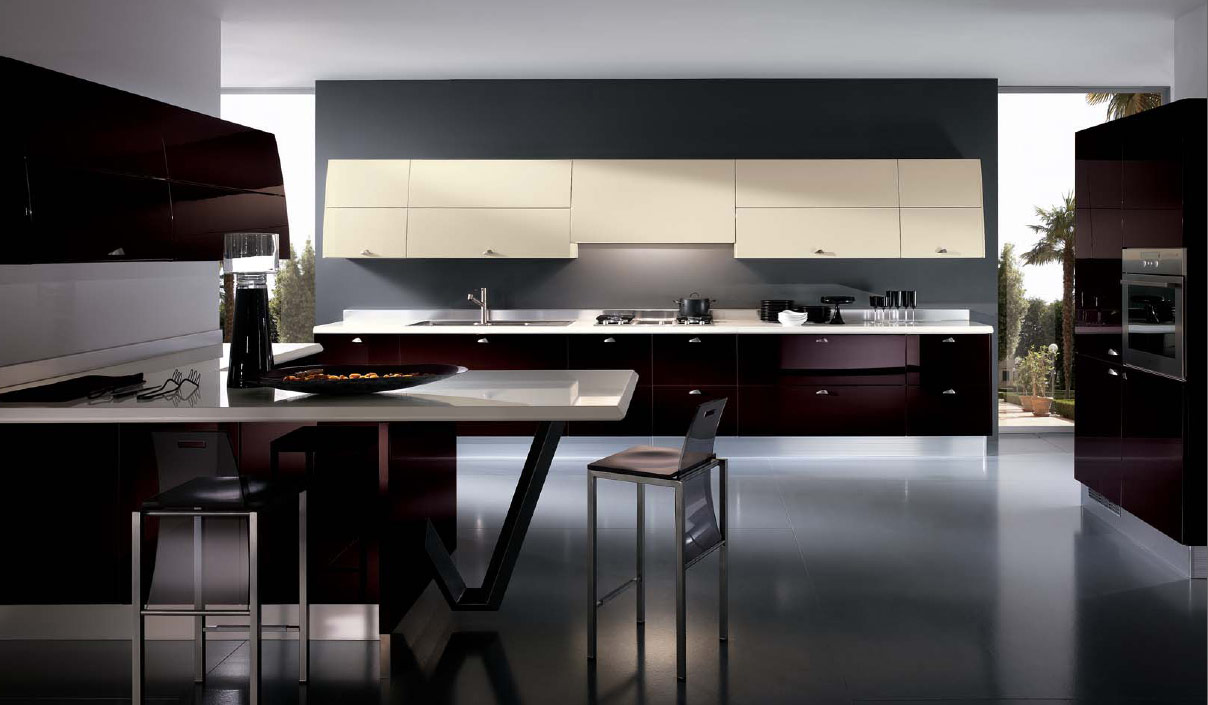 italian kitchens from giugiaro designs. Black Bedroom Furniture Sets. Home Design Ideas