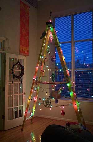Leiter Weihnachtsbaum