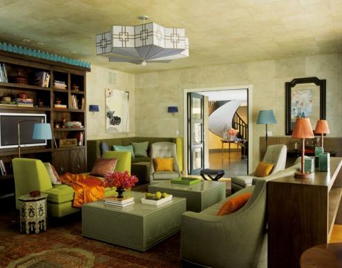 grüne Themen-Interieur