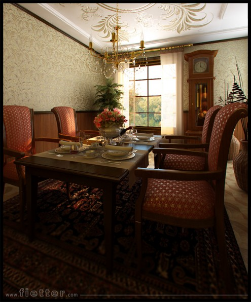classic style dining