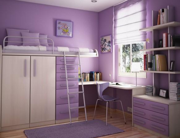violet kids room