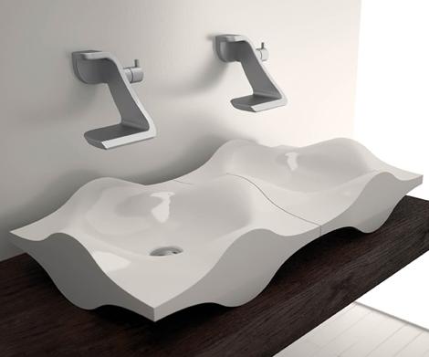Strange faucet sink