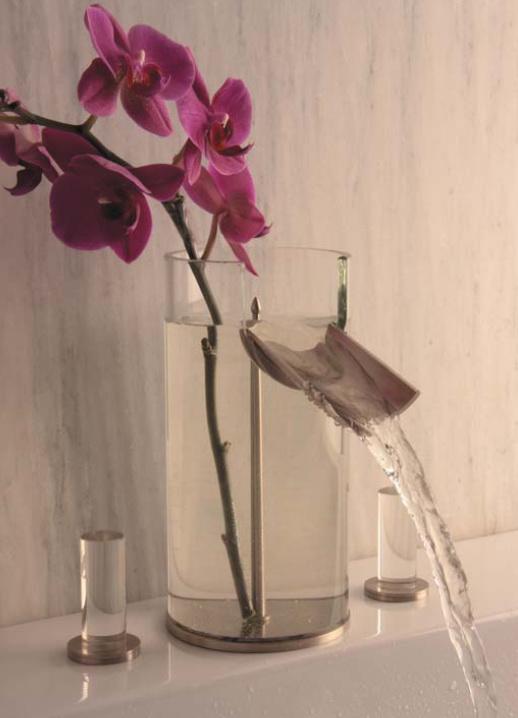 Bathroom faucet flower