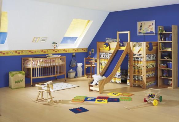 Kinder-Zimmer schieben