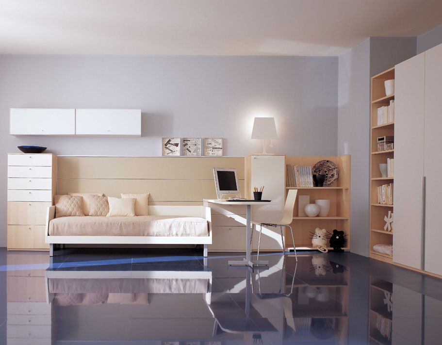 Kids look at room furniture An Interior Design - Room Study For Kids