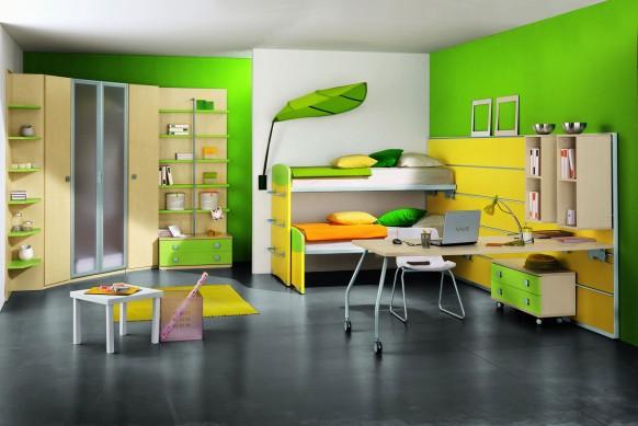 modern-Kinder-Zimmer-grün -