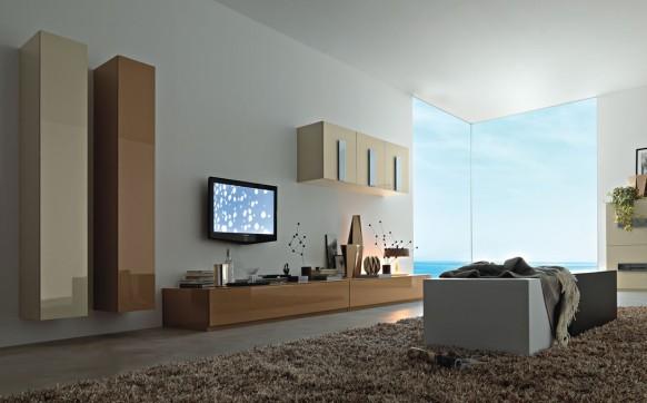 moderne Wohn-Wand-Einheiten