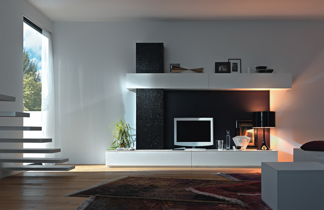 Modern wall units from momentoitalia - Modern wall decor ideas for living room ...