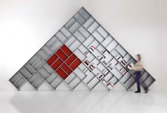 zeitgenössische modulare Bücherregal