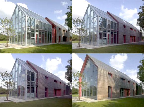 Schiebe-Haus-Architektur