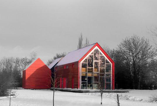 Schiebe-Haus-winter