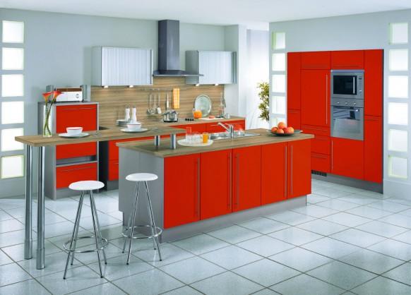 zwei line-Küche