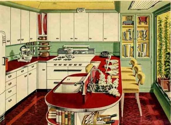 retro-Küche-1940er Jahre