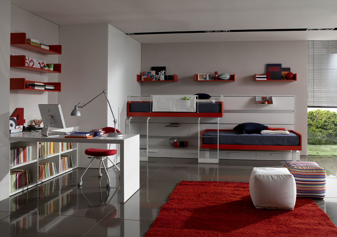 teenage bed room adorning Interior Decorating House - Teenage Boy Room Designs