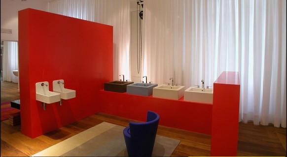 bunte Badezimmer