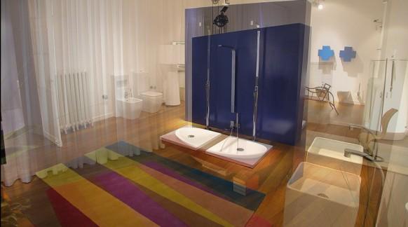elegante-Badezimmer-twin-Wannen