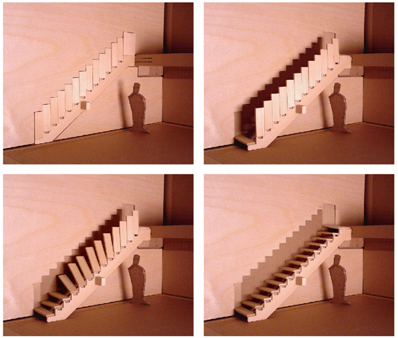 cool foldable stairs from designer aaron tang. Black Bedroom Furniture Sets. Home Design Ideas