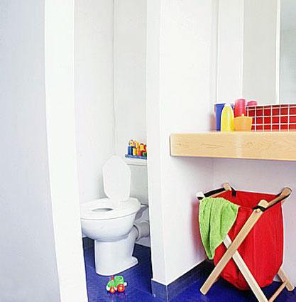 Kinder weiß-Badezimmer
